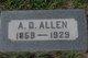 Profile photo:  A. D. Allen