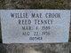 Willie Mae <I>Crook</I> Tenney