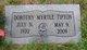 Dorothy Myrtle <I>Matthews</I> Tipton