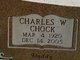 "Profile photo:  Charles W. ""Chock"" Brown"