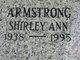 Profile photo:  Shirley Ann Armstrong