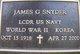 Profile photo: LCDR James Gardner Snyder