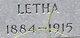 "Profile photo:  Aletha ""Letha"" <I>Mixon</I> Cantey"