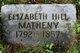 Elizabeth <I>Hill</I> Matheny