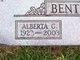 Profile photo:  Alberta C. <I>Cash</I> Benton