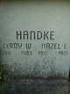 Hazel L <I>Blanchard</I> Handke