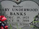 Mary <I>Underwood</I> Banks