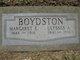 Margaret Elizabeth <I>Graves</I> Boydston