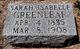 Sarah Isabelle <I>Evans</I> Greenleaf