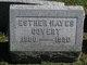 Profile photo:  Esther <I>Hayes</I> Covert