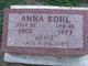 Profile photo:  Anna <I>Rohl</I> James