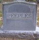 Profile photo:  Fannie <I>Pierce</I> Peeples