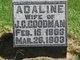 Profile photo:  Adaline <I>Pfantz</I> Goodman