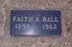 Profile photo:  Faith Alvena <I>Freeman</I> Ball