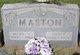 Profile photo:  Mary V <I>Crooks</I> Maston