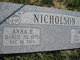 Profile photo:  Anna Elizabeth <I>Nelson</I> Nicholson
