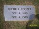 "Bettie Van ""Mamie"" <I>Bufford</I> Cooper"