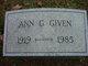 Profile photo:  Ann G. Given