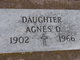 Profile photo:  Agnes O. Olson
