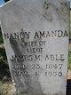 Nancy Amanda <I>Thomas</I> Able