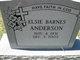 Elsie <I>Barnes</I> Anderson