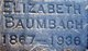 Elizabeth <I>Bechthold</I> Baumbach