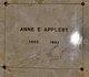 Profile photo:  Anne E. Appleby