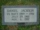 Profile photo:  Daniel Jackson