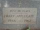 Mary Applegate