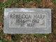 Priscilla Rebecca <I>Vann</I> Harp