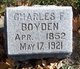 Profile photo:  Charles F. Boyden