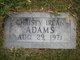 Profile photo:  Christy Irean Adams