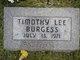Profile photo:  Timothy Lee Burgess