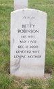 Profile photo:  Betty Robinson