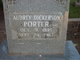 Profile photo:  Audrey <I>Dickerson</I> Porter