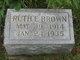 Ruth E Brown