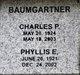 Profile photo:  Phyllis E. Baumgartner