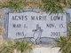 Profile photo:  Agnes Marie Lowe