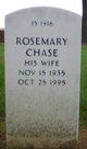 Rosemary <I>Seaman</I> Chase