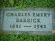 Profile photo:  Charles Emery Barrick