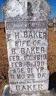 Eliza Harriett <I>White</I> Baker