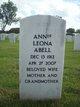 Profile photo:  Annie Leona Abell