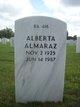 Profile photo:  Alberta Almaraz