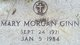 Mary <I>Morgan</I> Ginn