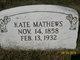 """Sarah Katherine """"Kate"""" Mathews"""
