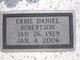 """Erbie Daniel """"Daniel"""" Robertson"""