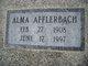 Emilie Marie Alma <I>Althaus</I> Afflerbach