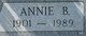 Profile photo:  Annie B Hutcherson
