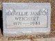 Nellie Jane <I>Applegarth</I> Weichert