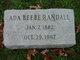 Profile photo:  Ada <I>Beebe</I> Randall
